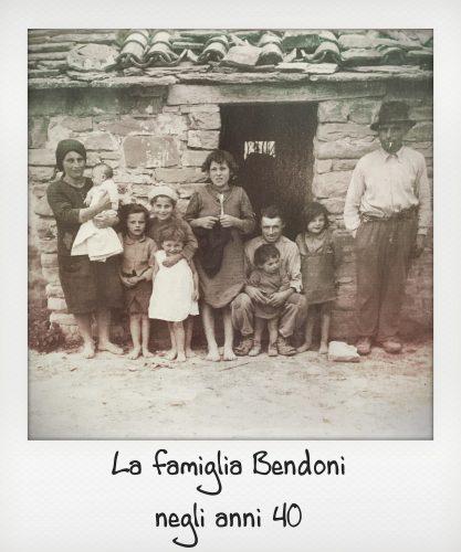 Foto d'epoca di famiglia delle Foreste casentinesi