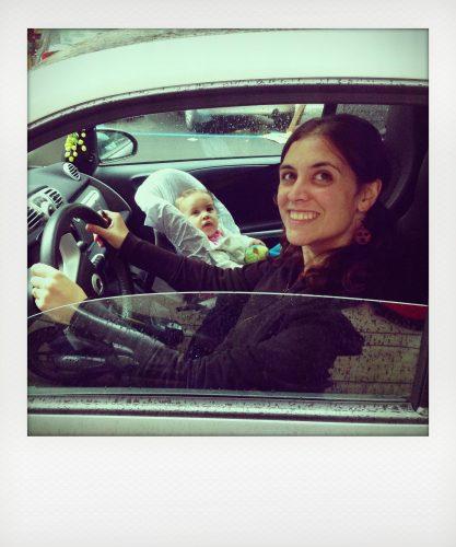 Viaggiare con bambini molto piccoli in auto