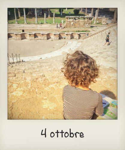 Ostia antica per bambini, il teatro