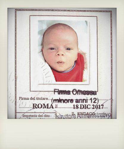 Carta identità neonati