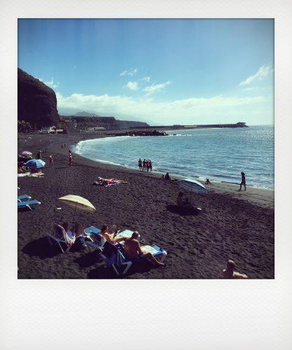 Spiaggia dell'isola di La Palma a gennaio
