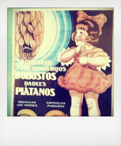 Pubblicità vintage delle banane di La Palma