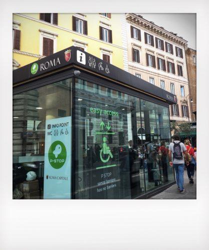Il bagno con baby Pit-stop di Piazza Navona a ROma