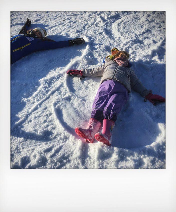 Una giornata In montagna senza sci - l'angelo della neve